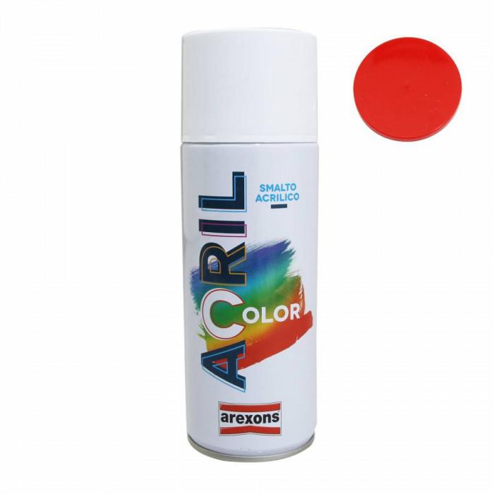 Bombe de peinture arexons acrylique rouge feu ral 3000 (tm 125-fantic 1981) (spray 400 ml) (3935)