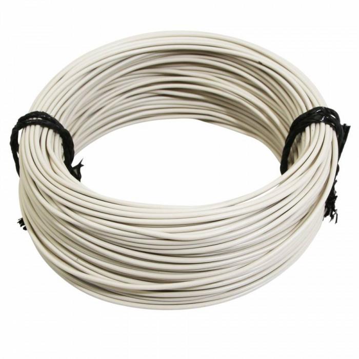 Fil electrique 12-10 (1,00mm) blanc (50m) -selection p2r-