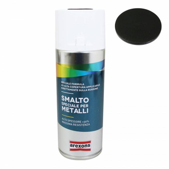 Appret-fond de preparation arexons acrylique special metal noir intense mat ral 9005 spray 400 ml (3850)