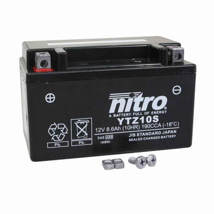 Batterie 12v 8,6 ah ytz10s nitro sans entretien gel pret a l'emploi (lg151xl87xh94)