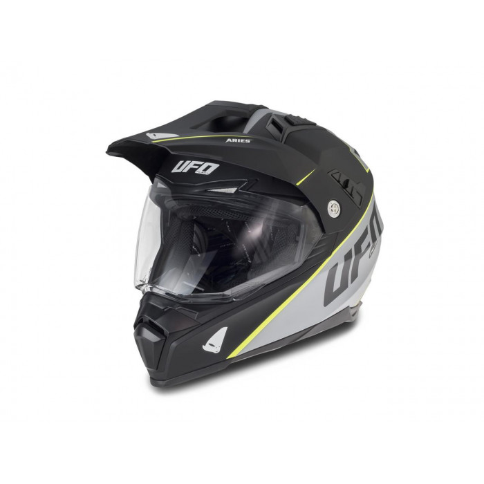 Casque UFO Aries Matt Black/Grey taille L