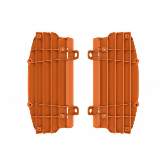 Cache radiateur POLISPORT orange KTM/HVA