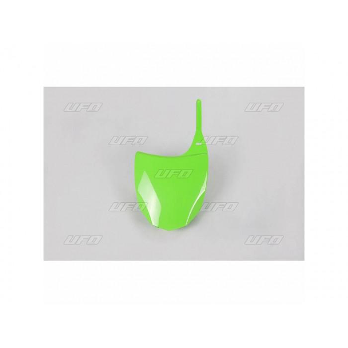 Plaque numéro frontale UFO vert Kawasaki KX450F