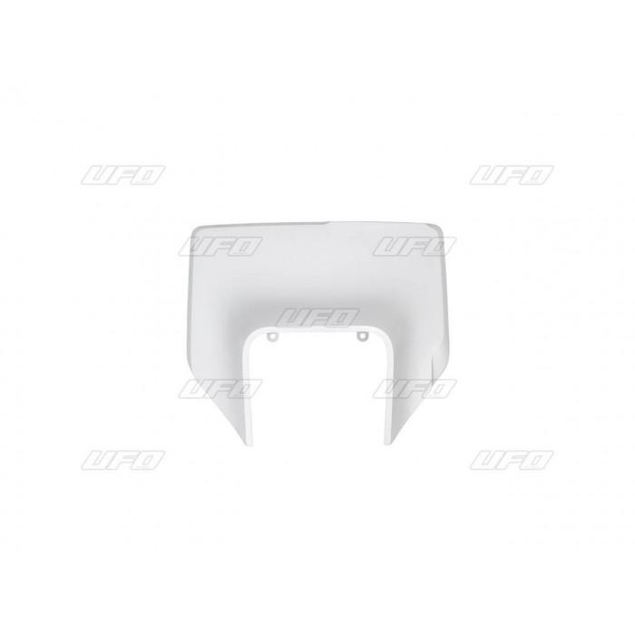 Plaque numéro frontale UFO blanc Husqvarna FE/TE