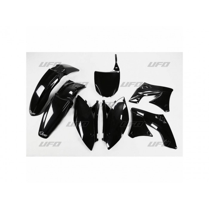 Kit plastique UFO noir Kawasaki KX250F