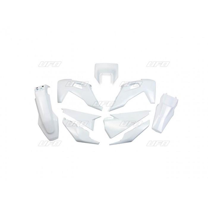 Kit plastiques UFO blanc Husqvarna FE/TE