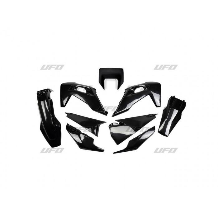 Kit plastiques UFO noir Husqvarna FE/TE