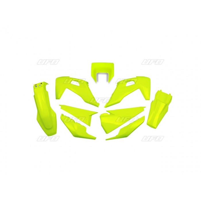 Kit plastiques UFO jaune fluo Husqvarna FE/TE