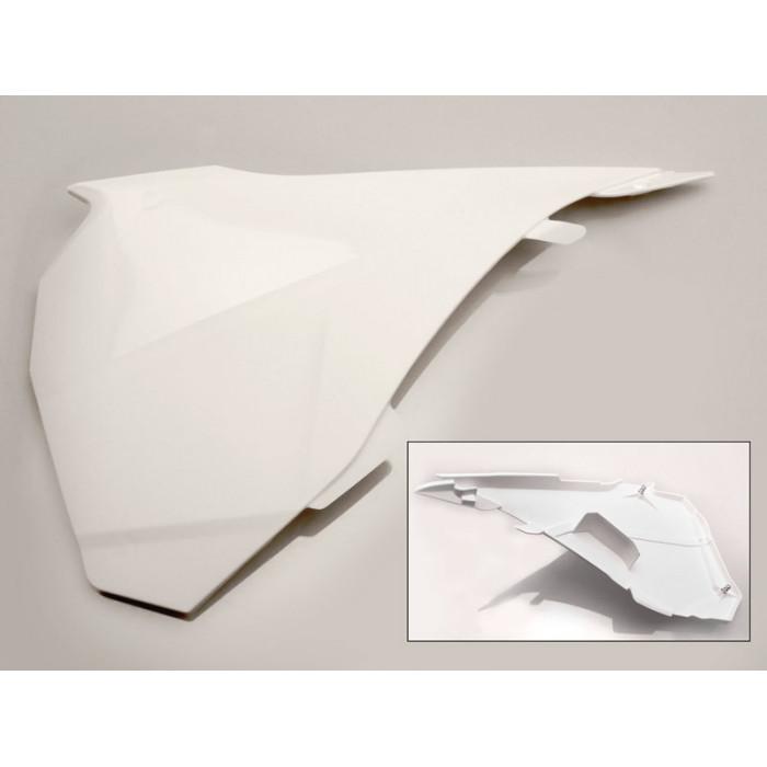Cache boîte à air gauche UFO blanc KTM SX85