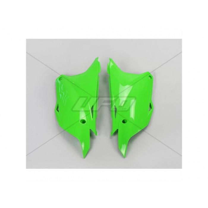 Plaques latérales UFO vert Kawasaki KX85