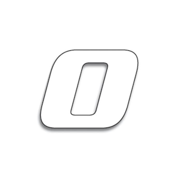Numéro de course 0 BLACKBIRD 20x25cm blanc