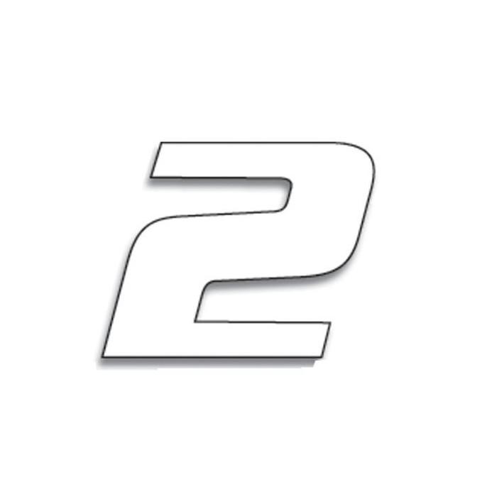 Numéro de course 2 BLACKBIRD 20x25cm blanc