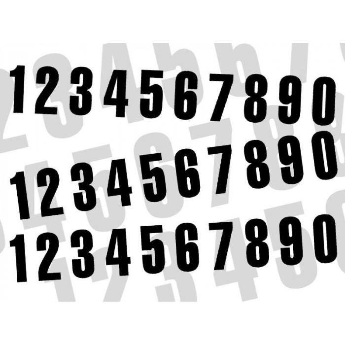 Numéro de course 7 BLACKBIRD 7x5,5cm noir jeu de 3