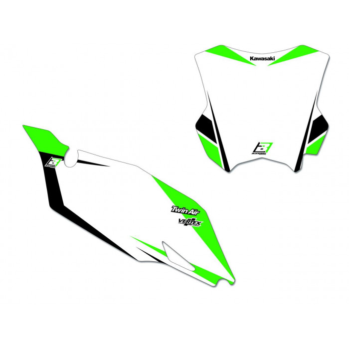 Fonds de plaques BLACKBIRD Graphic Kawasaki KX250F