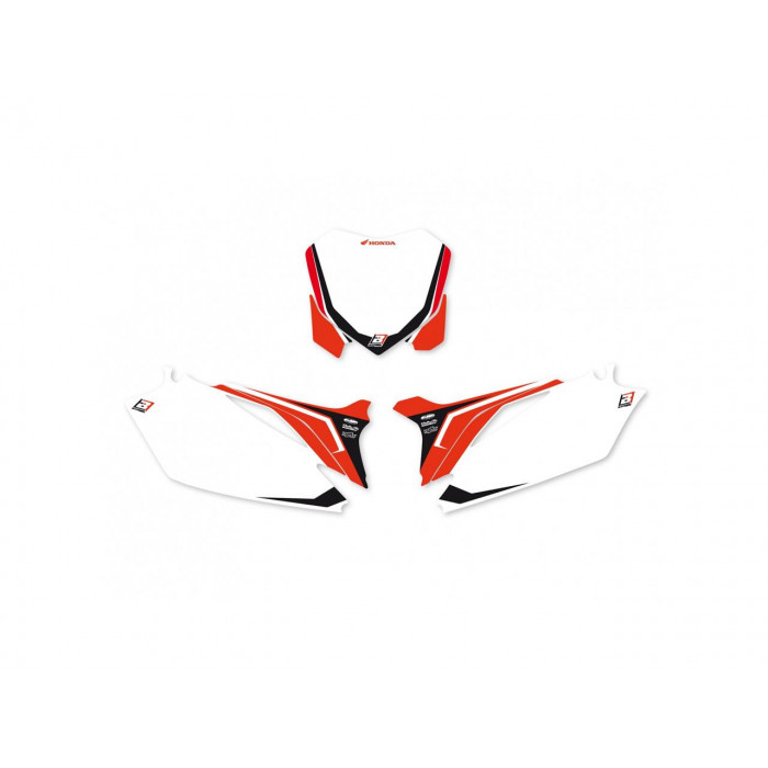 Fonds de plaque BLACKBIRD Graphic blanc Honda CRF250R/450R