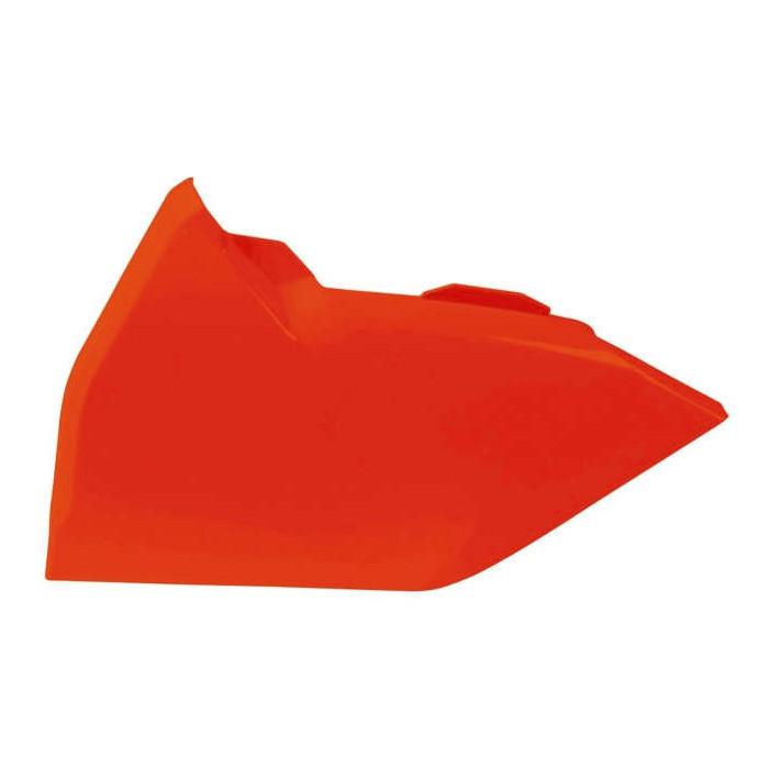 Cache boîte à air gauche RACETECH gauche orange fluo KTM