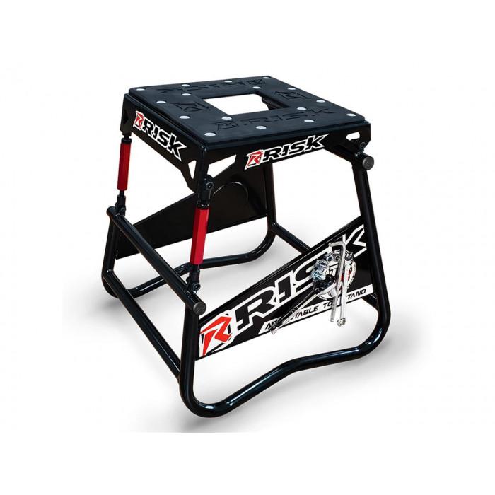 Lève moto RISK RACING A.T.S. inclinaison réglable avec plaque aimantée