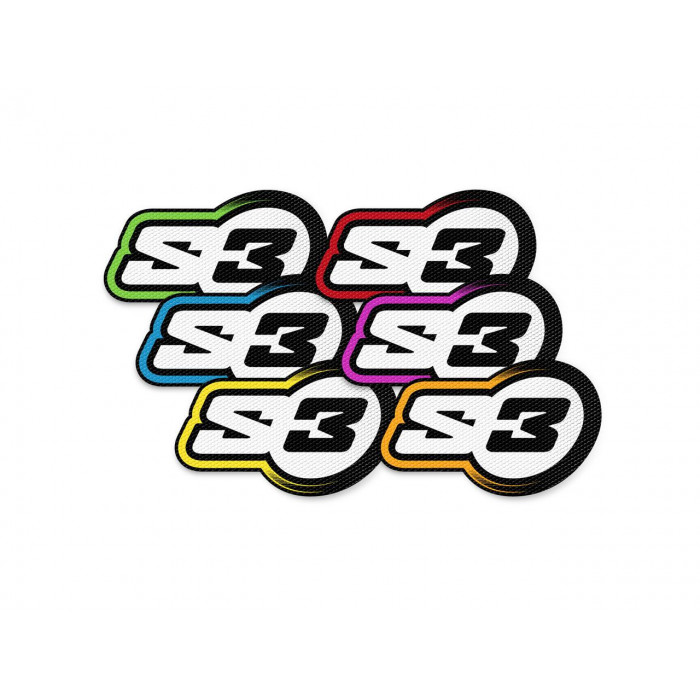 Kit autocollants S3 Impact Enduro/Trial 20 pièces