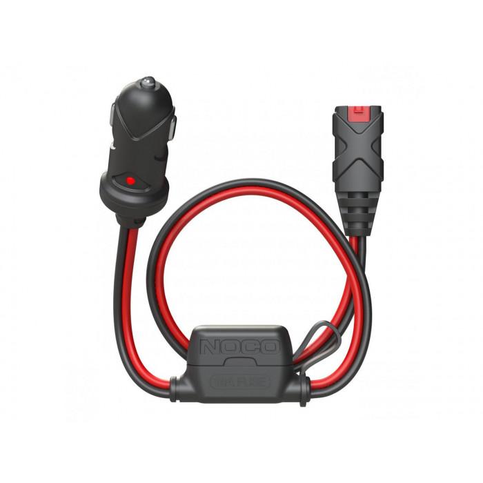 Câble chargeur de batterie NOCO X-Connect 12V Dual-Size Male Plug allume-cigare 60cm