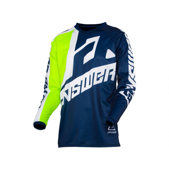 Maillot ANSWER Syncron Voyd Midnight/Hyper Acid/White taille XL