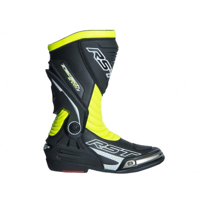 Bottes RST TracTech Evo 3 CE cuir jaune fluo 39 homme