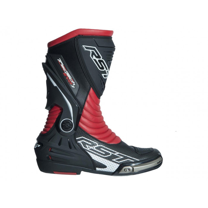Bottes RST TracTech Evo 3 CE cuir rouge fluo 48 homme