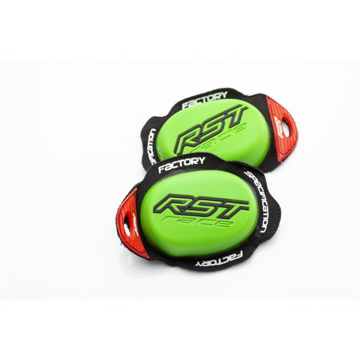 Slider genou RST Factory Reverse Velcro vert néon