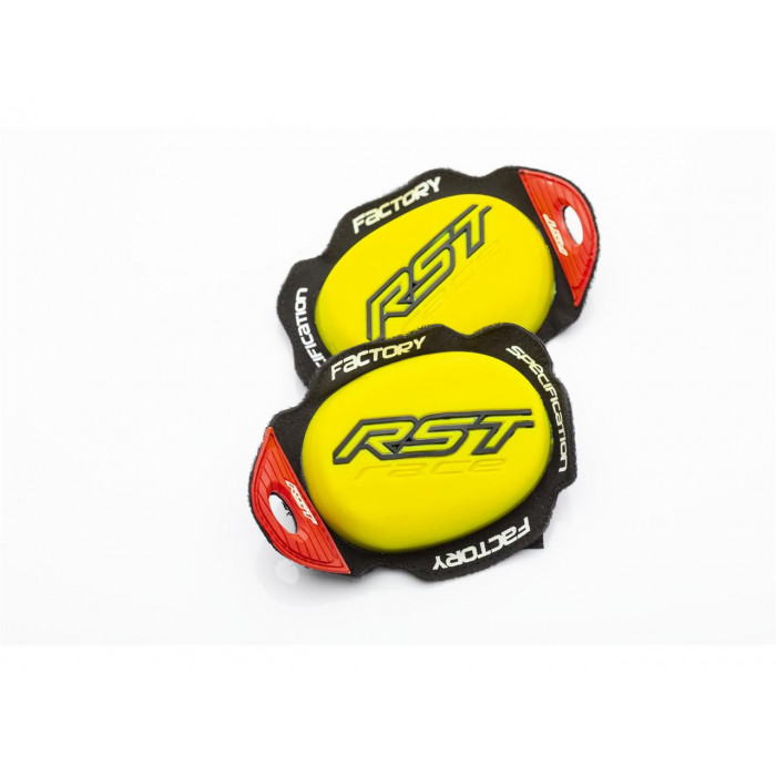 Slider genou RST Factory Reverse Velcro jaune fluo