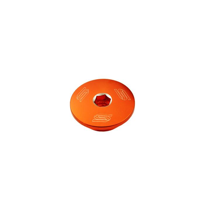 Bouchons carter moteur latéraux SCAR orange KTM