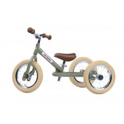 Draisienne 2 roues convertible TRYBIKE Vert Vintage