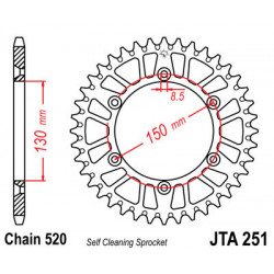 Couronne JT SPROCKETS 51...