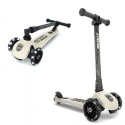 Trottinette 3 roues pliable à leds HIGHWAY KICK 3 Beige