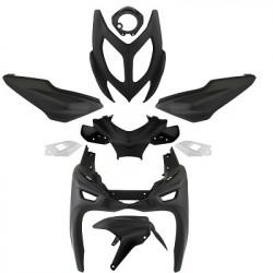 Kit carrosserie noir mat 9 pièces MBK Nitro YAMAHA Aerox 2013 carénage coques