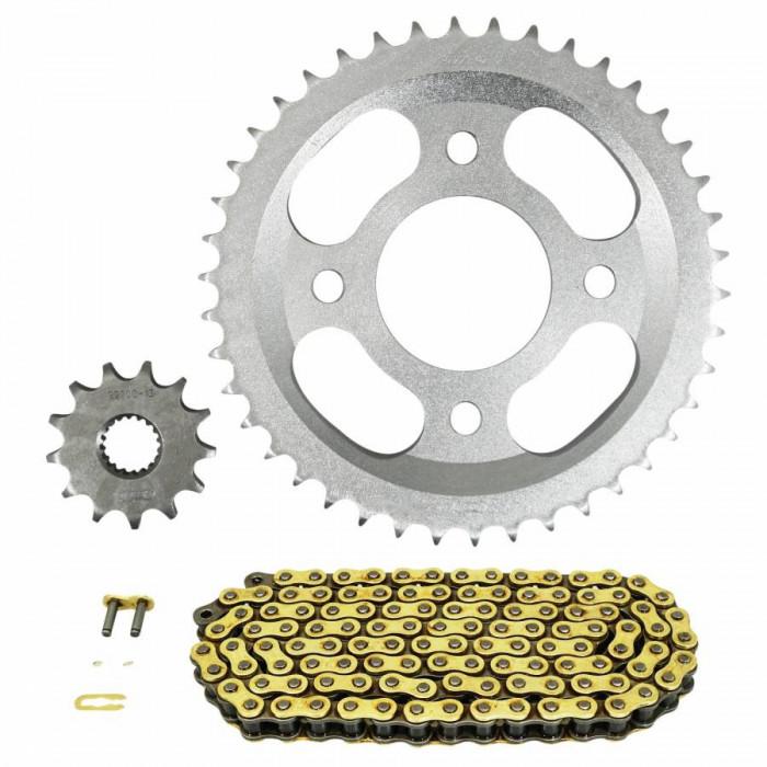 Kit chaine adaptable mash 125 seventy five e4 2017+ 428 13x42 (demultiplication origine) -afam-