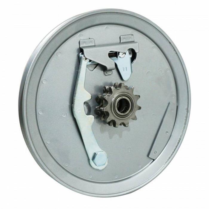 Poulie cyclo origine mbk 88, 41 renforce acier grise avec pignon 11 dts demontable (douille ina)