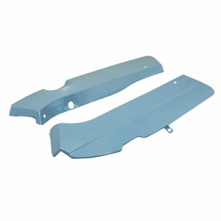Capotage moteur cyclo pour mbk 88, 881 bleu brut a peindre (paire) -selection p2r-