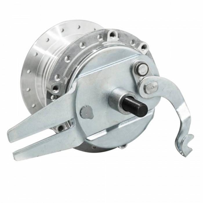 Moyeu roue cyclo adaptable peugeot 103 arriere 36 trous avec flasque + axe -selection p2r-