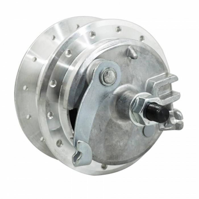 Moyeu roue cyclo adaptable peugeot 103 avant 28 trous avec flasque + axe -selection p2r-