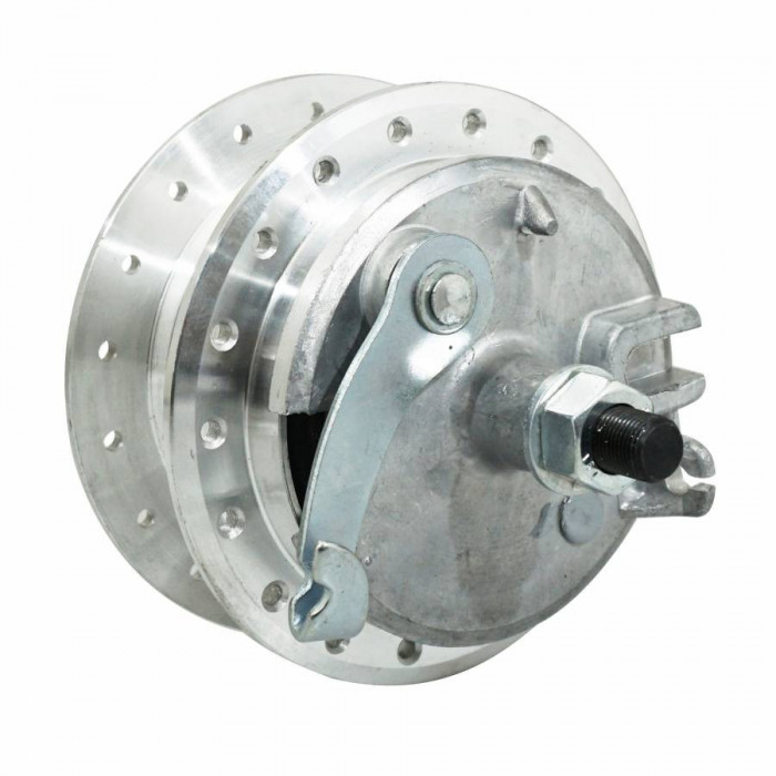 Moyeu roue cyclo adaptable peugeot 103 avant 36 trous avec flasque + axe -selection p2r-