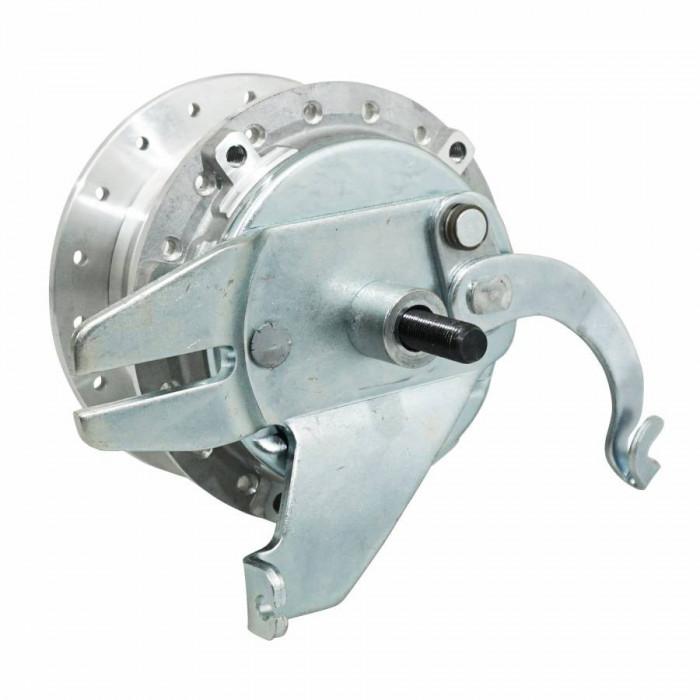 Moyeu roue cyclo adaptable peugeot mbk 51 diam 80mm avec flasque + axe -selection p2r-