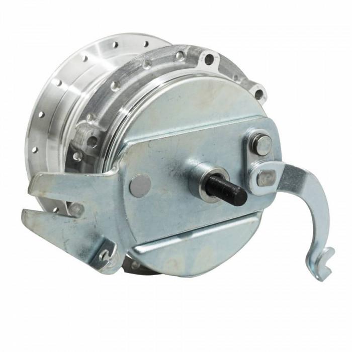 Moyeu roue cyclo adaptable peugeot mbk 88-85 diam 100mm avec flasque + axe -selection p2r-