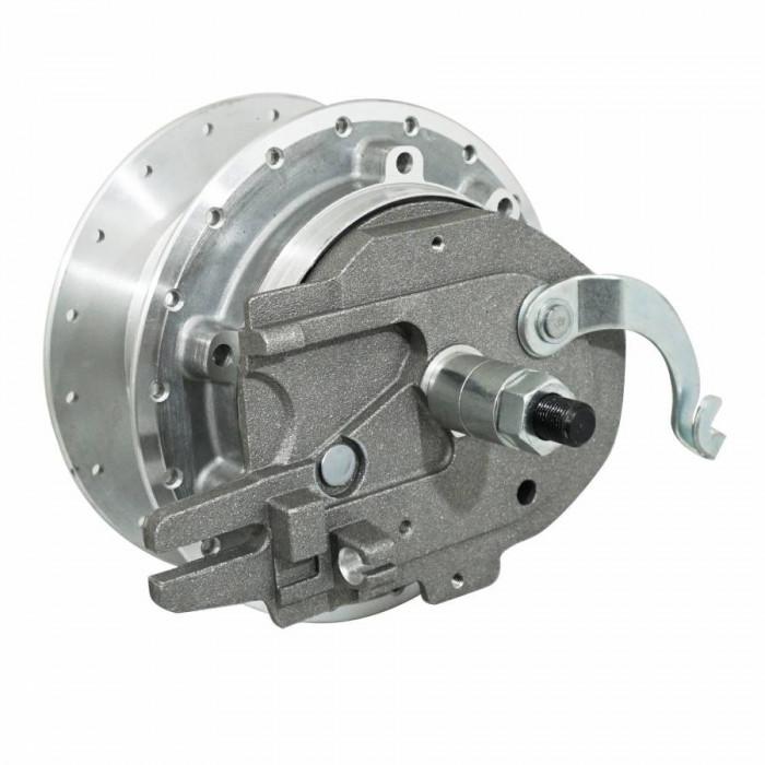 Moyeu roue cyclo adaptable peugeot mbk 89 diam 100mm avec flasque + axe -selection p2r-
