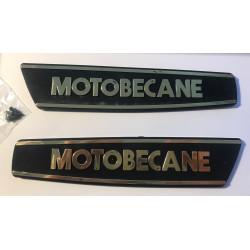 Monogrammes de réservoir logo MOTOBECANE version dorée