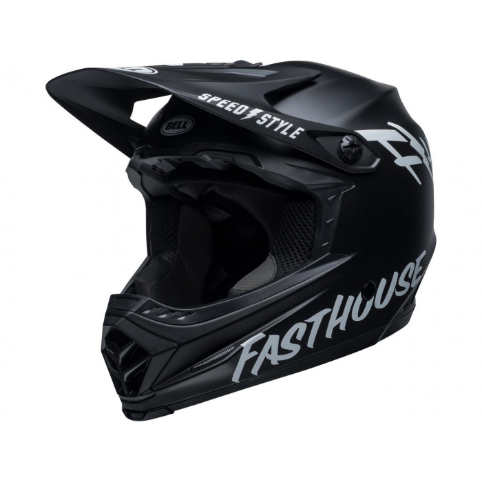 Casque BELL Moto-9 Youth Mips Fasthouse Matte Black/White taille YS/YM