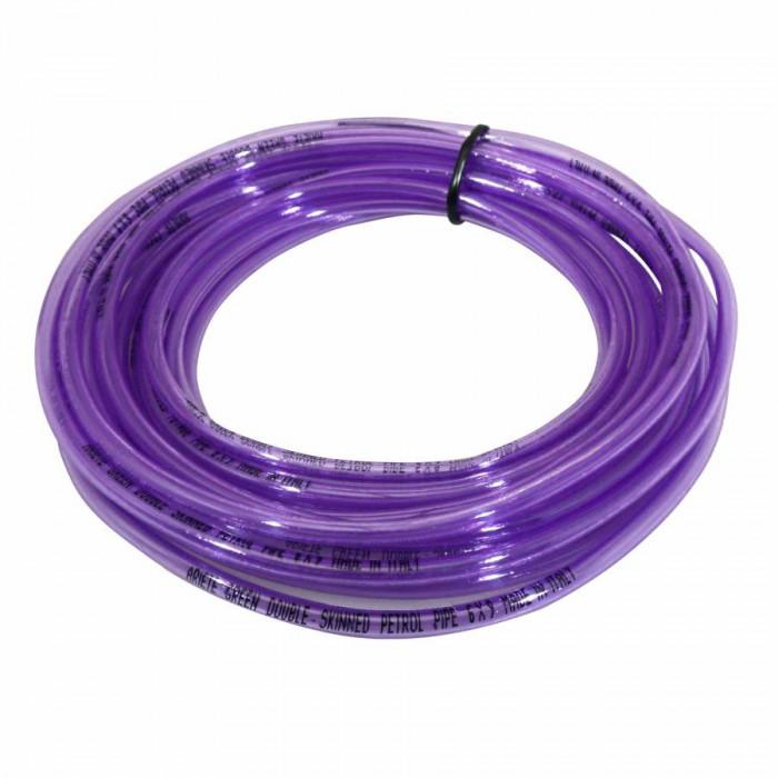Durite essence double epaisseur speciale essence sans plomb 6x9 violet (10m) -ariete-