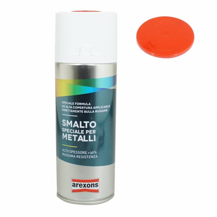 Bombe de peinture arexons smalto special metal brillant rouge feu ral 3000 spray 400 ml (3209)