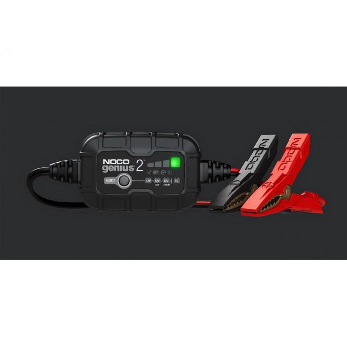 Chargeur de batterie NOCO Genius2 6/12V 2A montage direct cosses