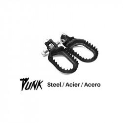 Repose-pied S3 Punk acier noir