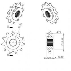 Pignon cyclo  adapt. 103...