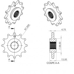 Pignon cyclo teknix adapt....